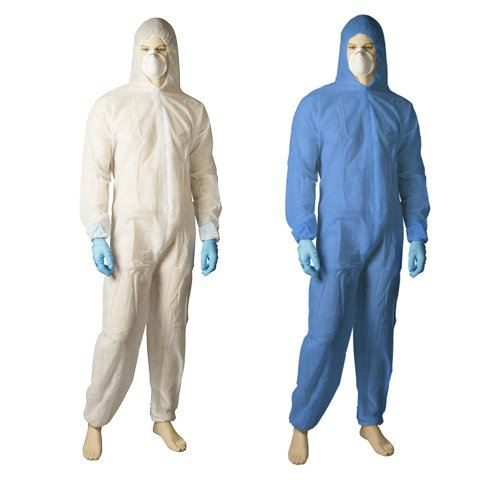 blue white coverall