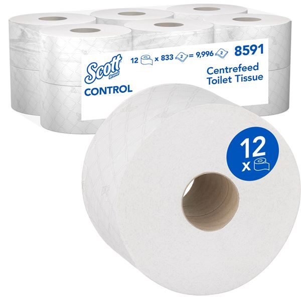 Scott Control Mini Twin Centrefeed T.Tissue (12x204m)